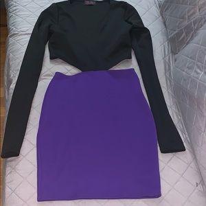Short long sleeve sexy dress